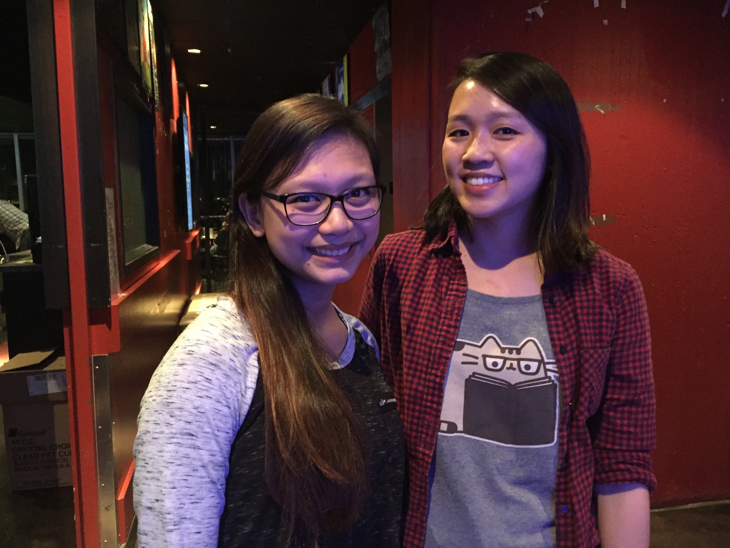 Michelle Mabuyo and Allison Pon at RATT after DemoCamp 35
