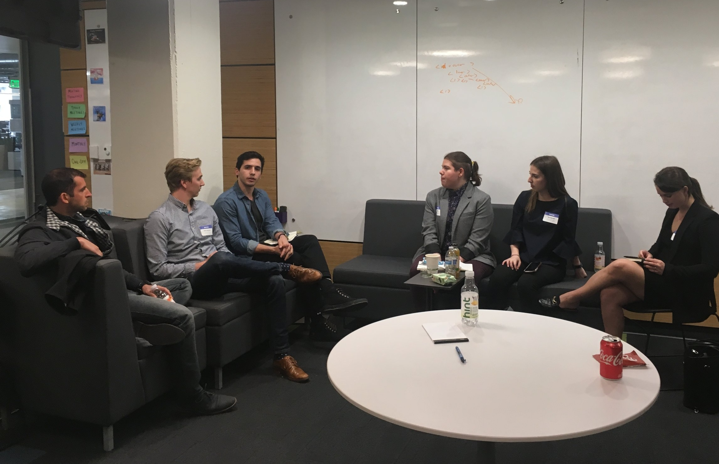 Gabi and 2018 Apprentices interviewing a panel of alums.jpg