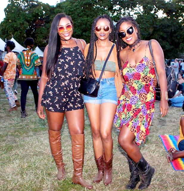 Us at Afro PUNK!!!!