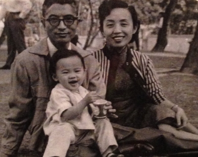 Shiree with her parents, circa 1961 in Hong Kong.