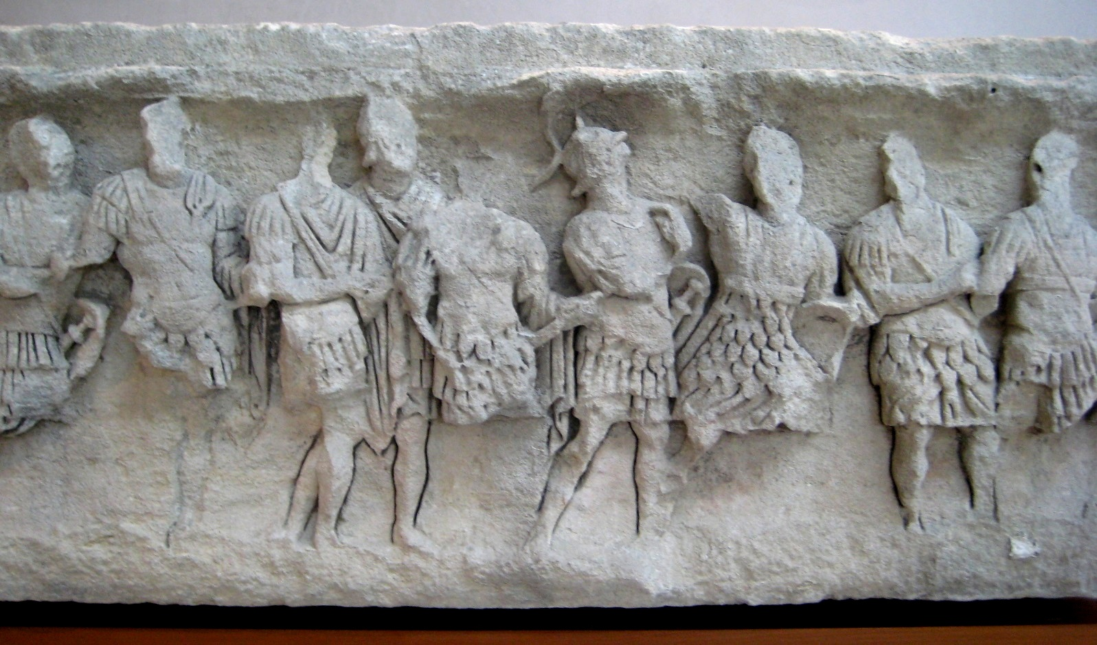 Frieze of solders. Augustan.