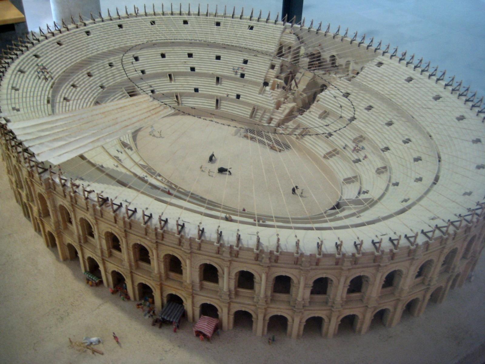 Arles Amphitheatre model