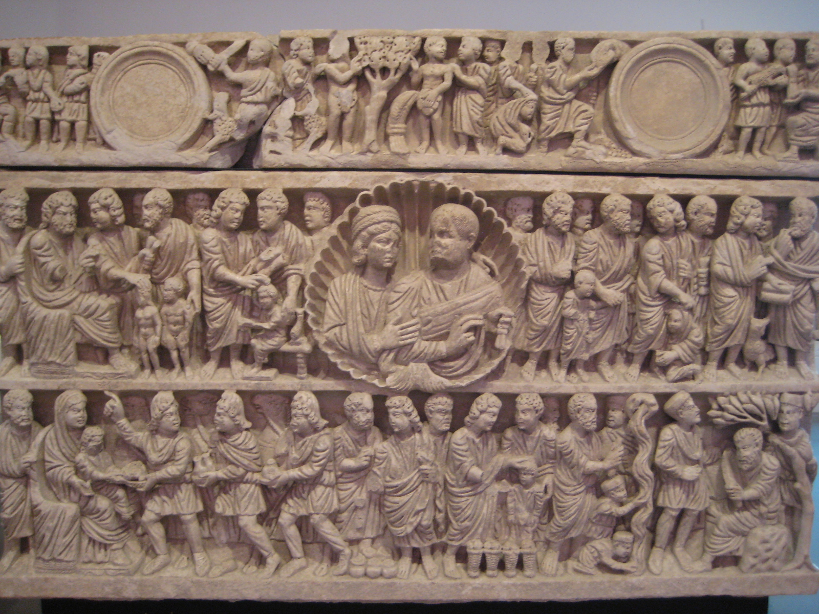 Frieze from a late Roman sarcophagus