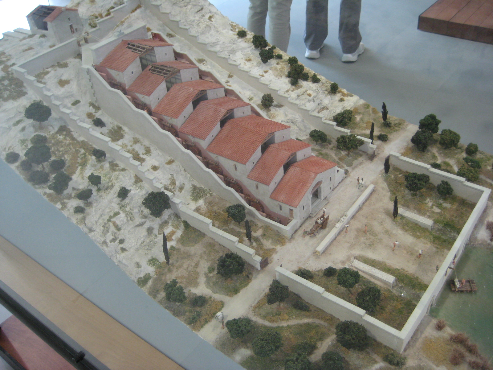 Model of the Barbegal watermill complex