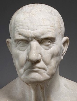 Not a happy man... Portrait bust of an unknown Roman.