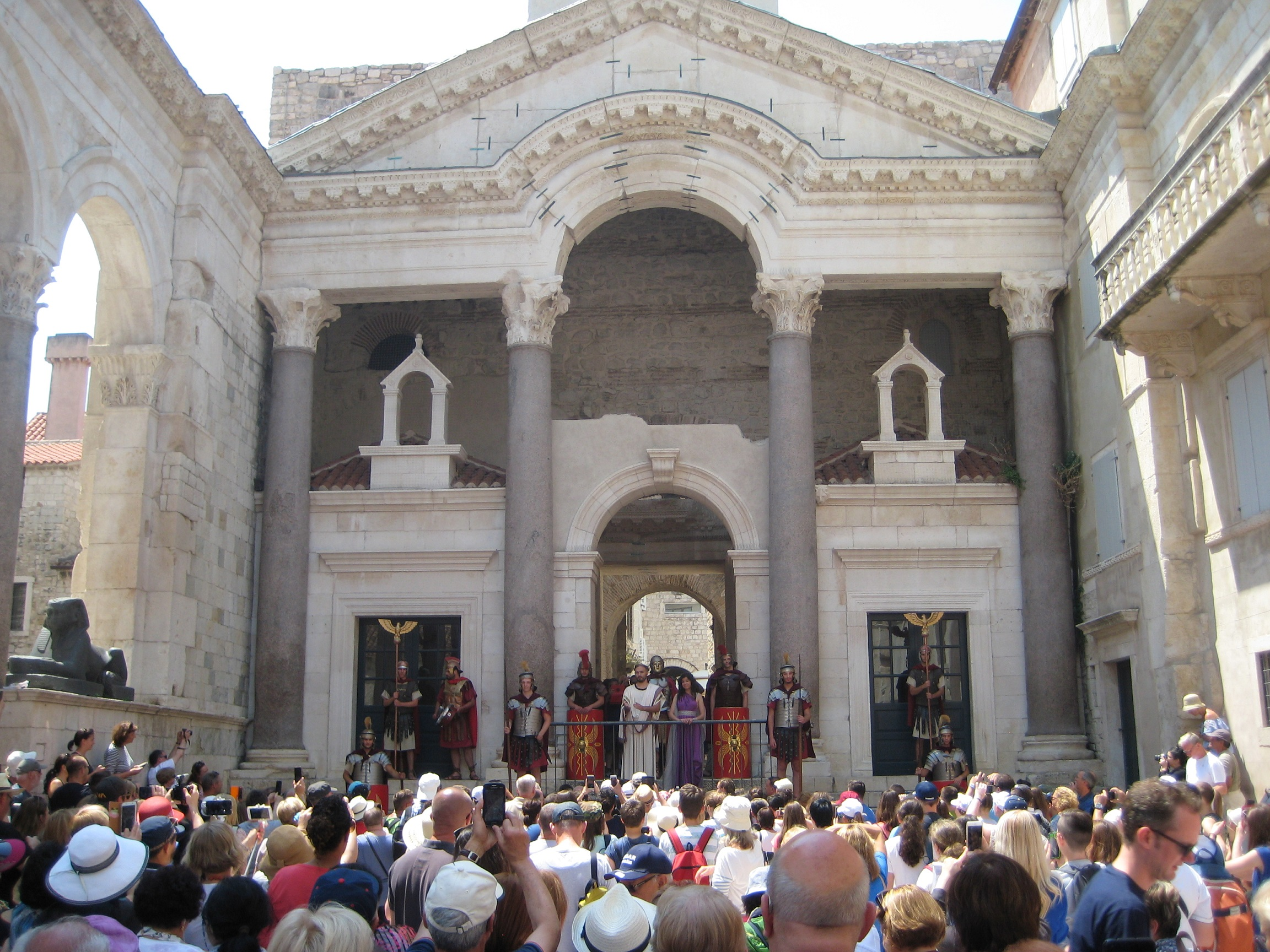Diocletian's Palace, Split, Emperor Appearance
