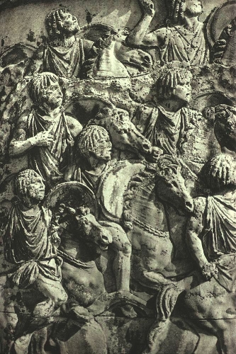 North African light cavalry in action, as portrayed on Trajan's Column in Rome, cAD110