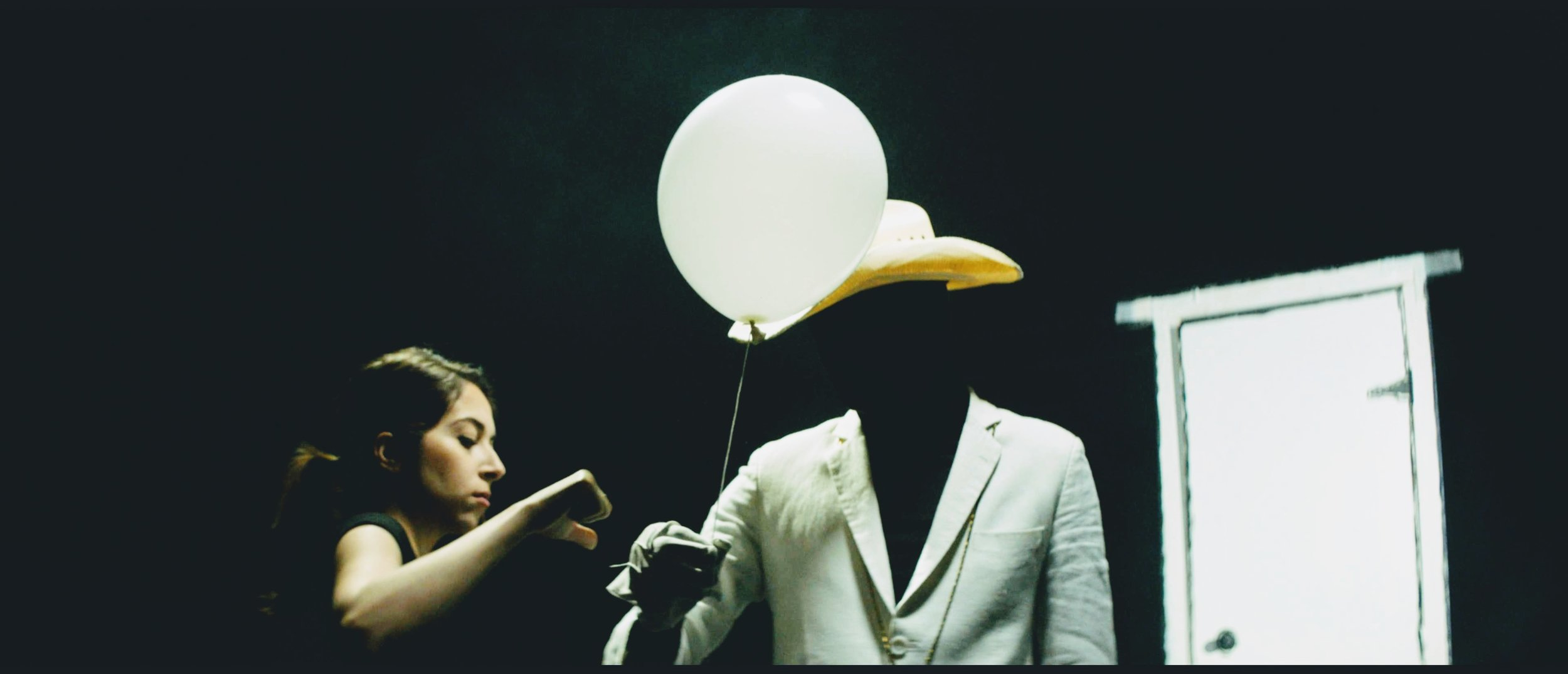 Golzar on set in art department for a music video (2019)