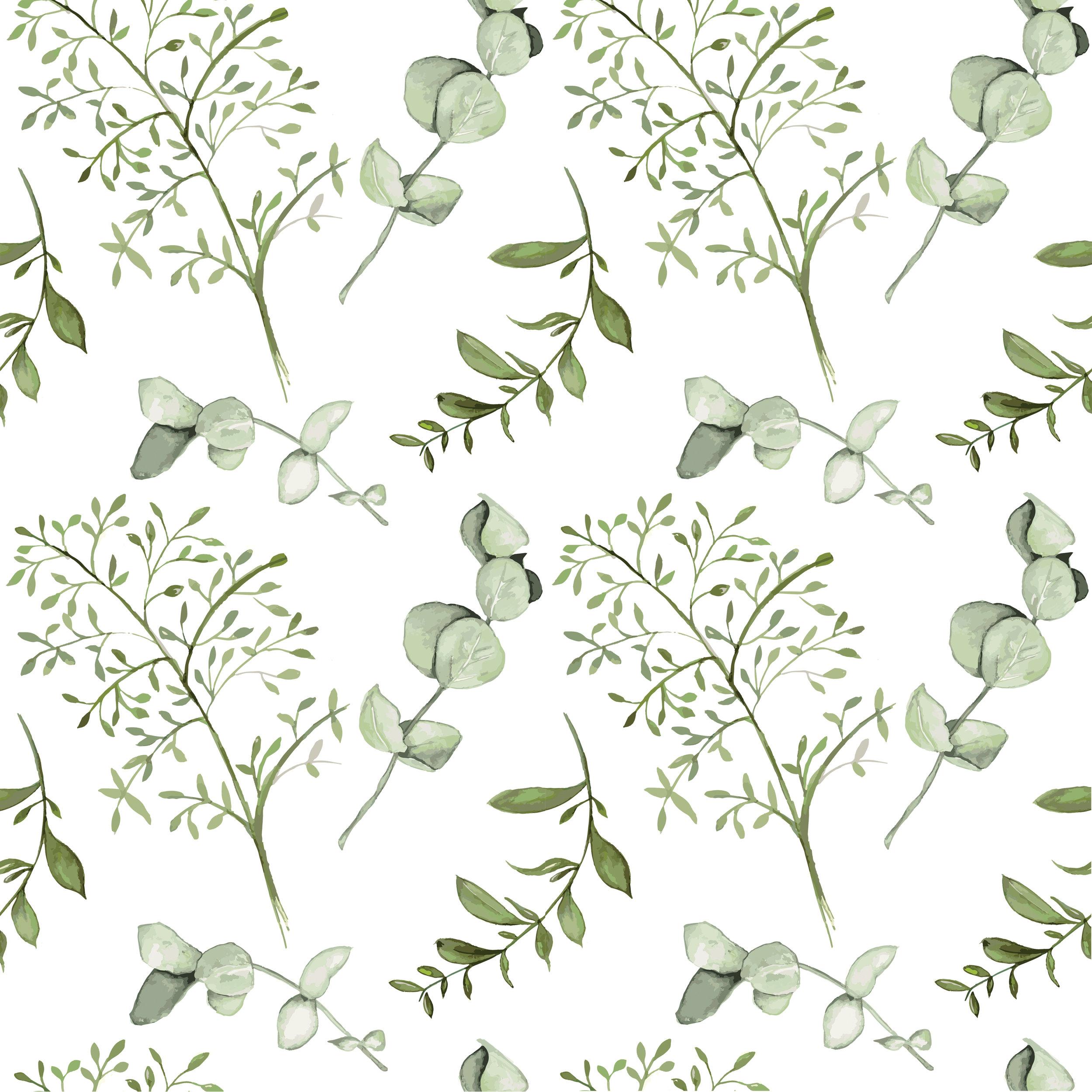 Green Leaf Pattern Design