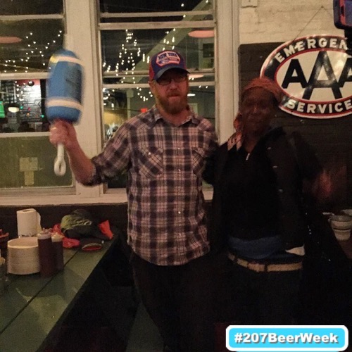 beerinmaine_--_The__allagashbrewing_beer_won_tonight_s_pro-am._Here_s_the_winning_brewer_with_the_buoy_trophy_and_his_new_best_friend_who_joined_the_party_uninvited..jpg