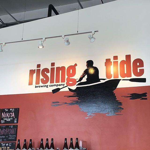 Thanks @risingtidebeer for hosting today's @207beerweek meeting. Starting 4pm.