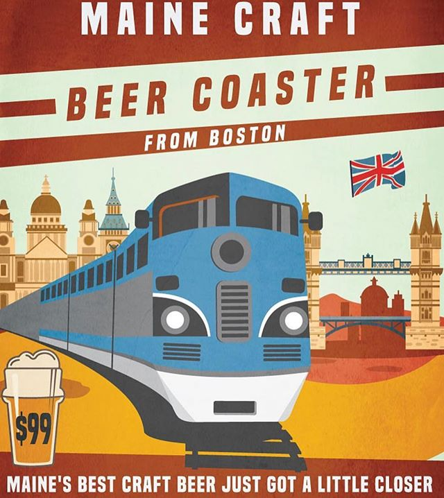 You can take the @amtrakdowneaster up any day of #207beerweek reserve now. #roundtrip #craftbeer #beercation #trainsarecool #beercoaster