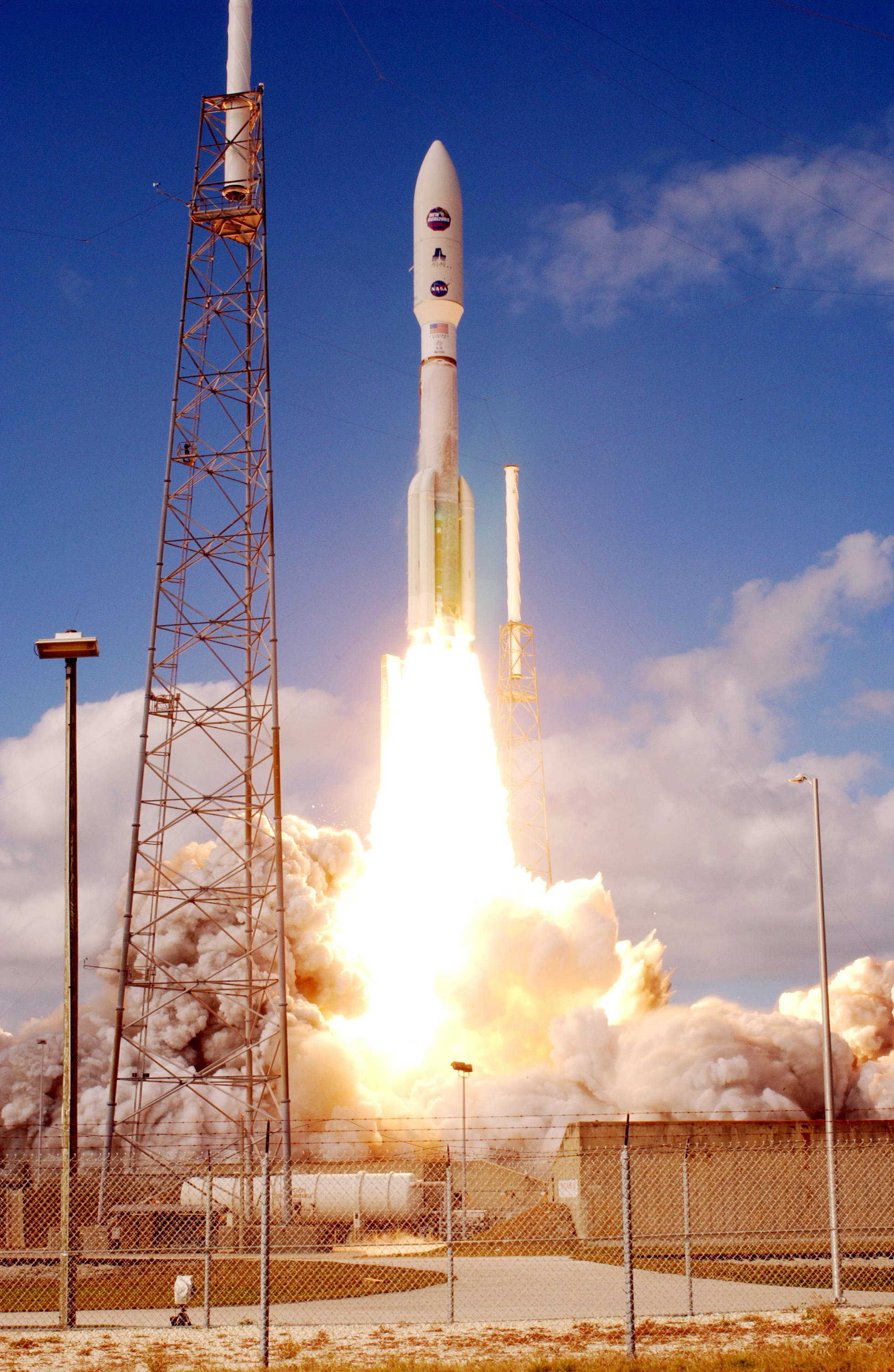 New Horizons was the fastest launch in history, strapped to the back of the powerful Atlas V rocket.   NASA/Wikimedia Commons  (public domain)