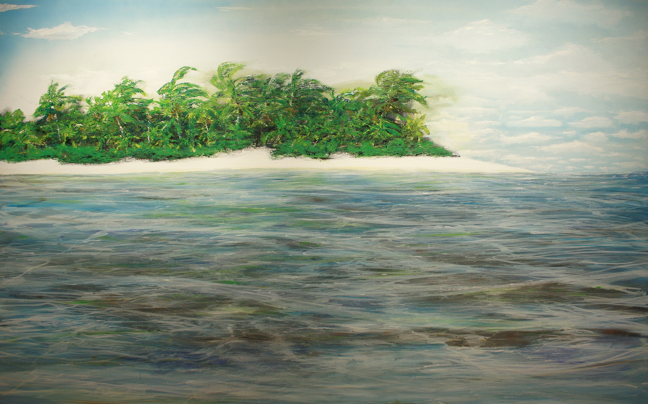 A painting of the Chagos Archipelago.   Jorge Stark/Flickr  (CC BY-NC-ND 2.0)