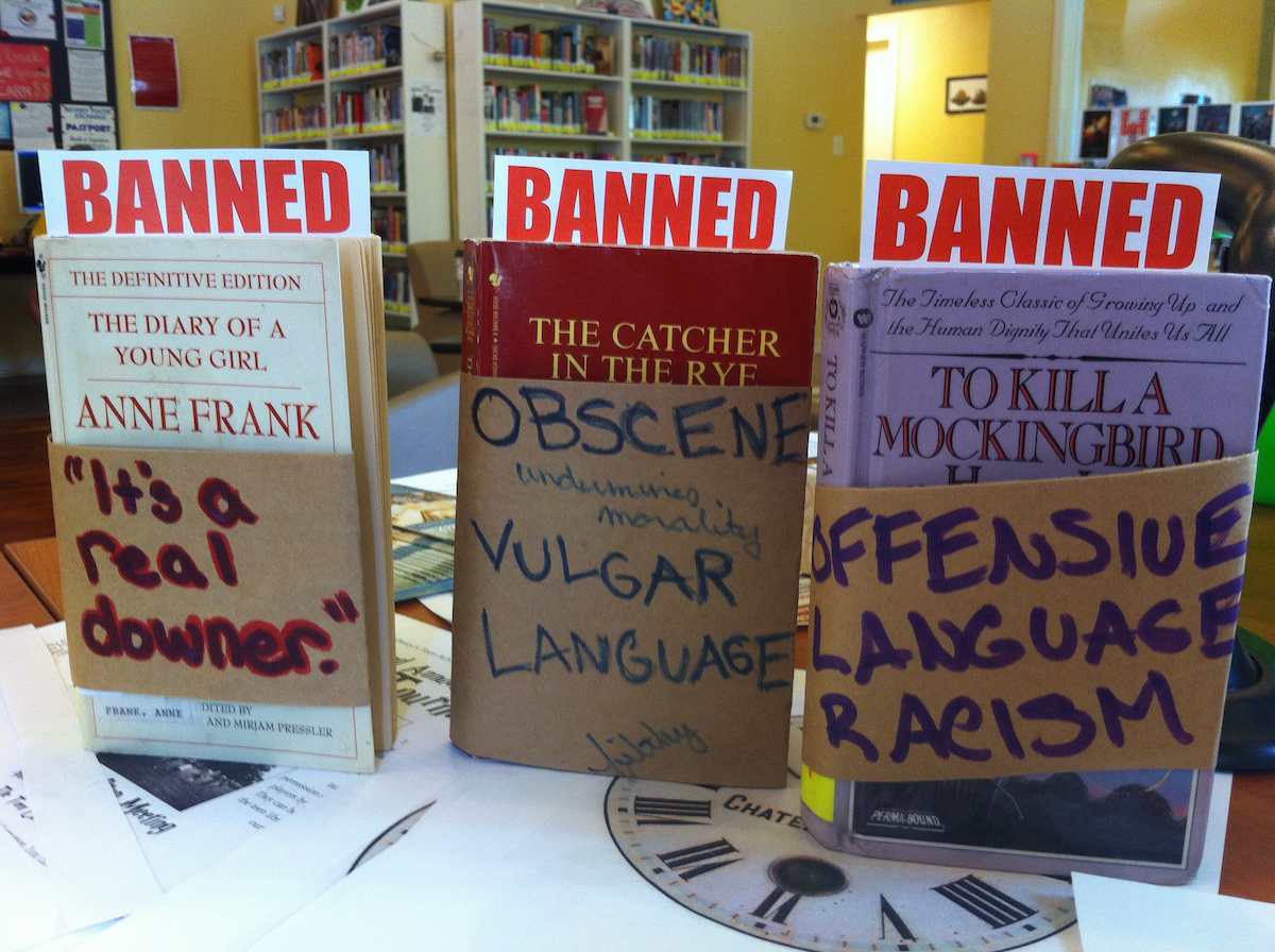 "To mark the progress in dismantling censorship, some libraries even celebrate ""Banned Books Week"".   Eckhart Public Library/Flickr  (CC BY 2.0)"