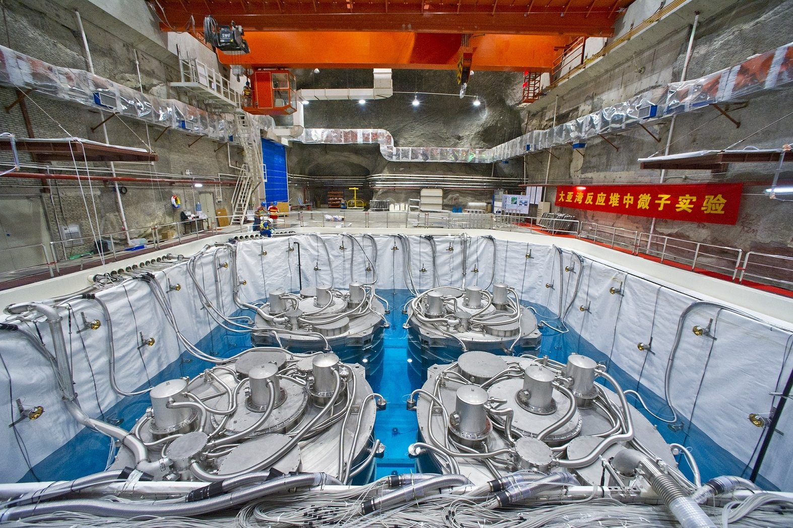 Further study continues at the Daya Bay Neutrino Experiment, which aims to discover more about neutrino oscillation.  Brookhaven National Laboratory/Flickr (CC BY-NC-ND 2.0)