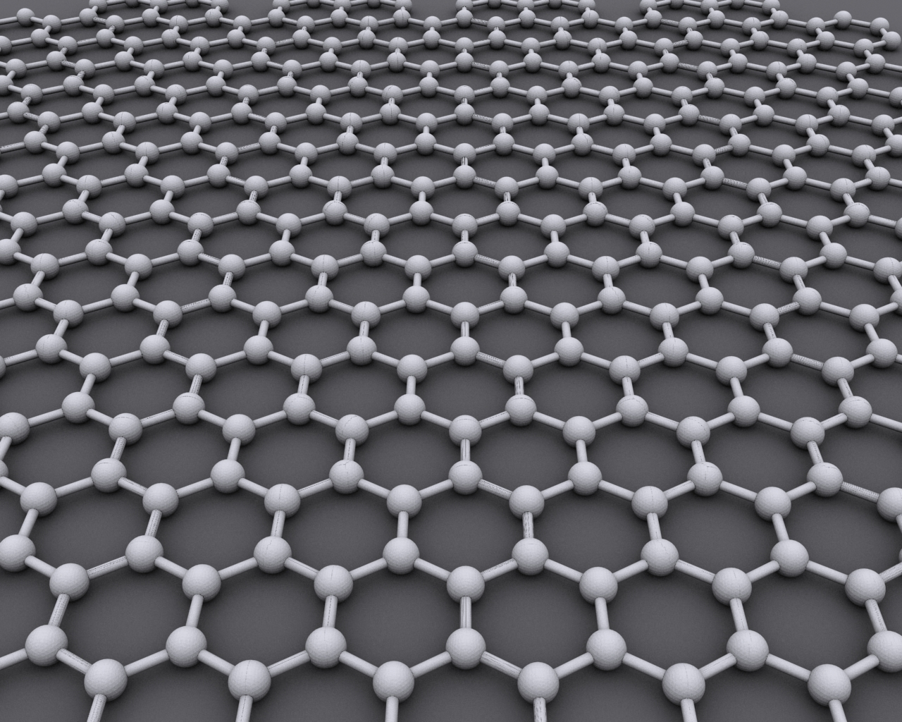The interlocking, hexagonal pattern of a sheet of graphene.   AlexanderAIUS/Wikimedia Commons  (CC BY-SA 3.0)