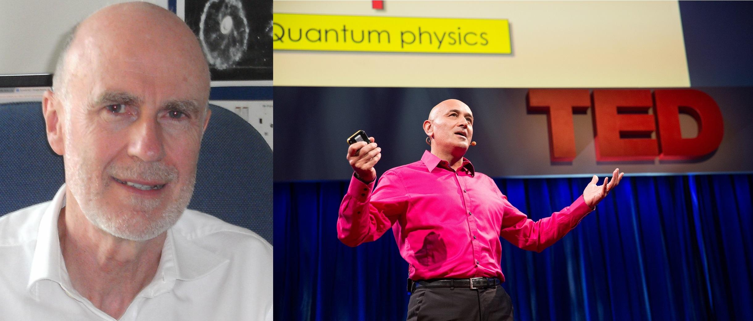 University of Surrey researchers Johnjoe McFadden (left) and Jim Al-Khalili (right) have become vocal advocates for quantum biology.   Johnjoe McFadden/Wikipedia  (CC BY 3.0);  James Duncan Davidson, TED/Flickr  (CC BY NC 2.0)