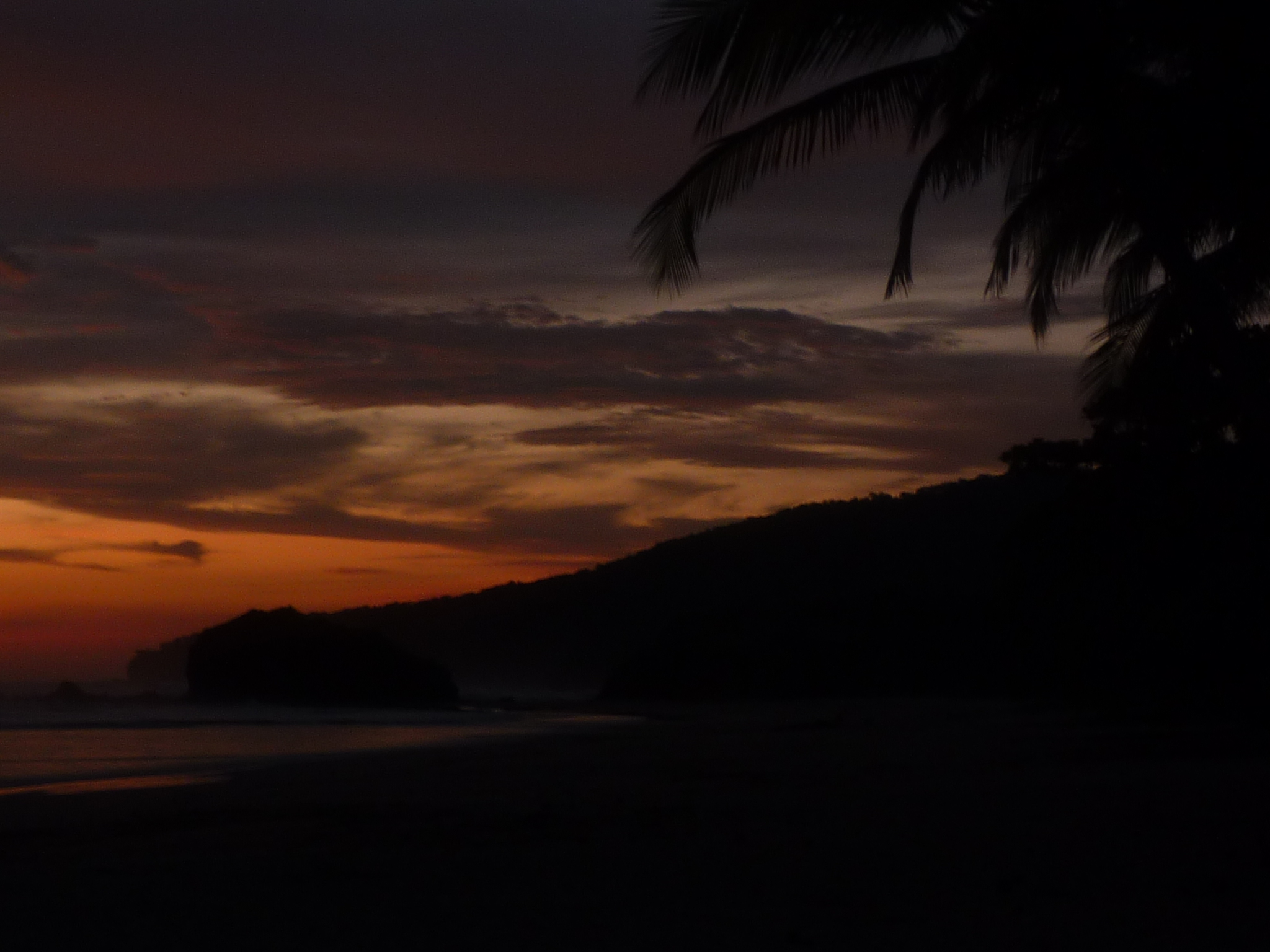 Sunrise on the beach at Playa Cabuyal, Costa Rica.  © Christopher Gatto