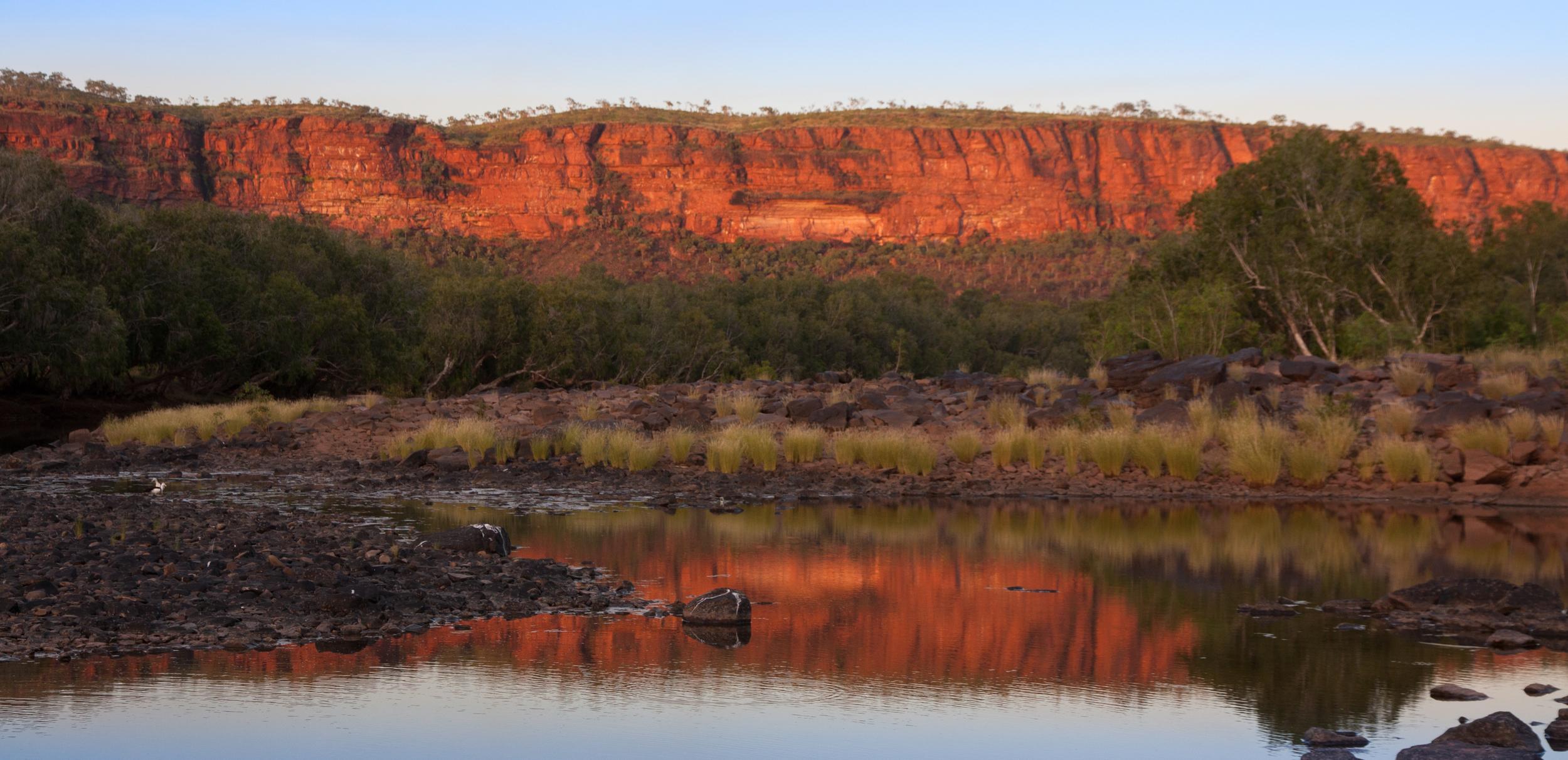 The sun rises over the Victoria River, Western Australia . © Matt Le Feuvre.