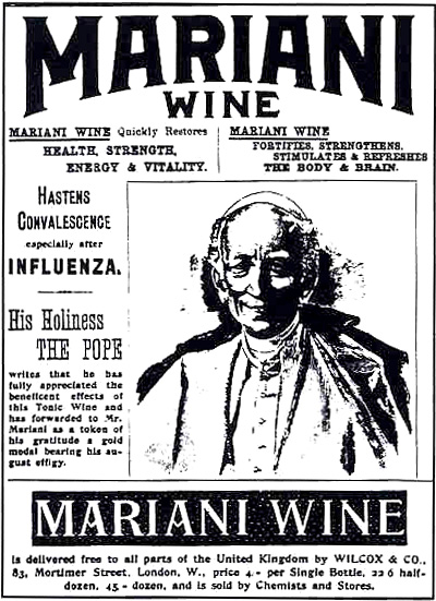Thomas Edison was also a reported fan of Mariani Wine, which contained cocaine, and he claimed it enabled him to study for longer periods than his colleagues.   Wikimedia Commons  (public domain)