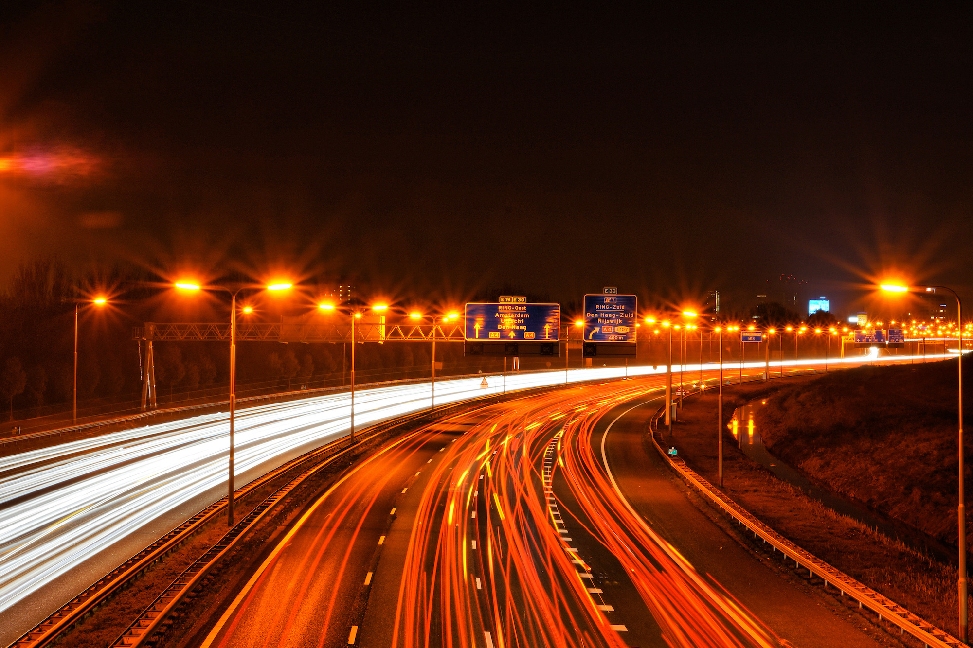 If you stand above a freeway, the cars appear to move quickly relative to you. If you are driving on the freeway, the other cars move slowly relative to you, because your speed is near their speed.   Edwin van Buuringen  /Flickr  (CC BY 2.0)