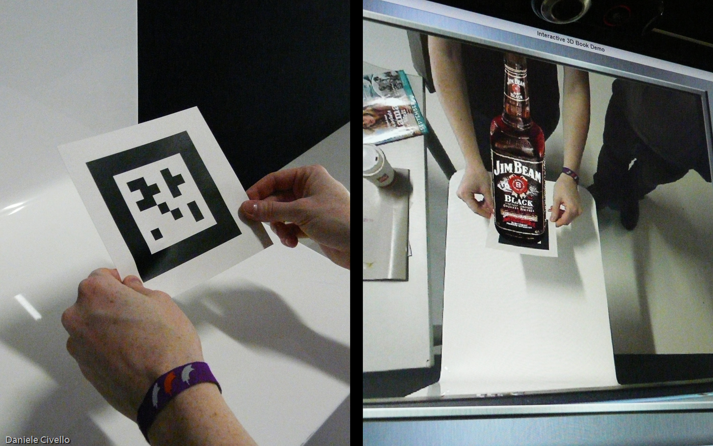 AR modifies the real environment by overlaying computer-generated images and sound.   Daniele Civello/Flickr  (CC-BY-NC 2.0)