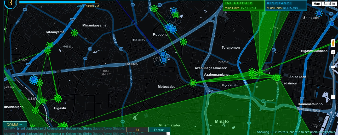 Ingress, the location-based AR game created by Niantic Labs, uses real life landmark locations as portals for players to battle over.   Fumi Yamazaki/Flickr  (CC-BY-NC-SA 2.0)