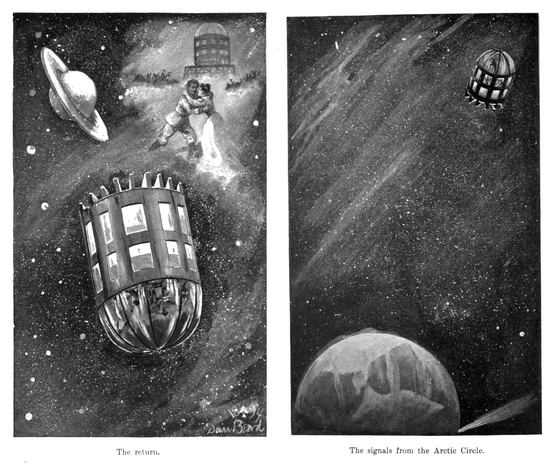 J.J Astor's spaceship in A Journey in Other Worlds.   Internet Archive  (public domain)