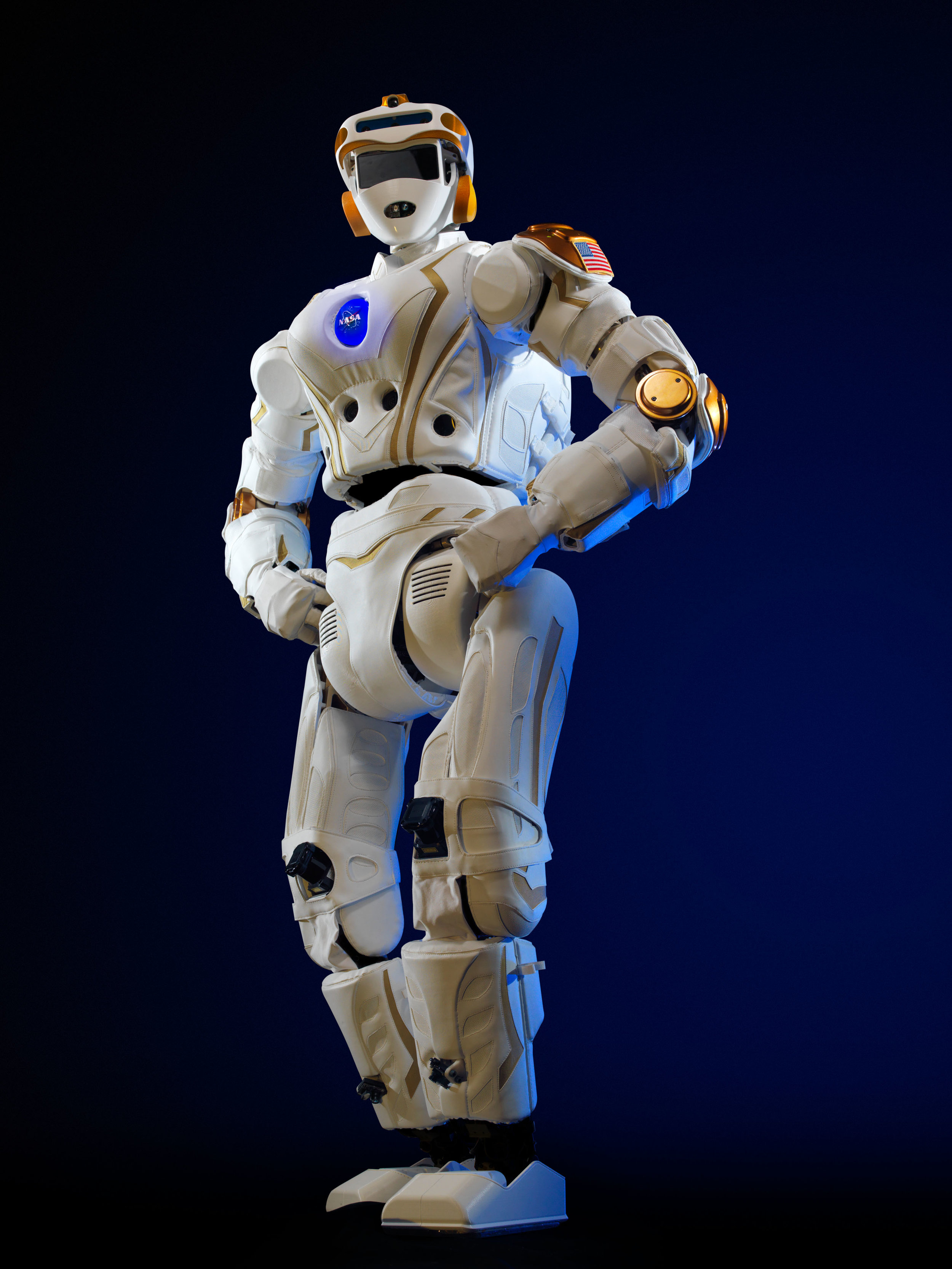 NASA's Valkyrie robot standing proud, and so he should. This is one advanced piece of robotics.  NASA  (public domain)