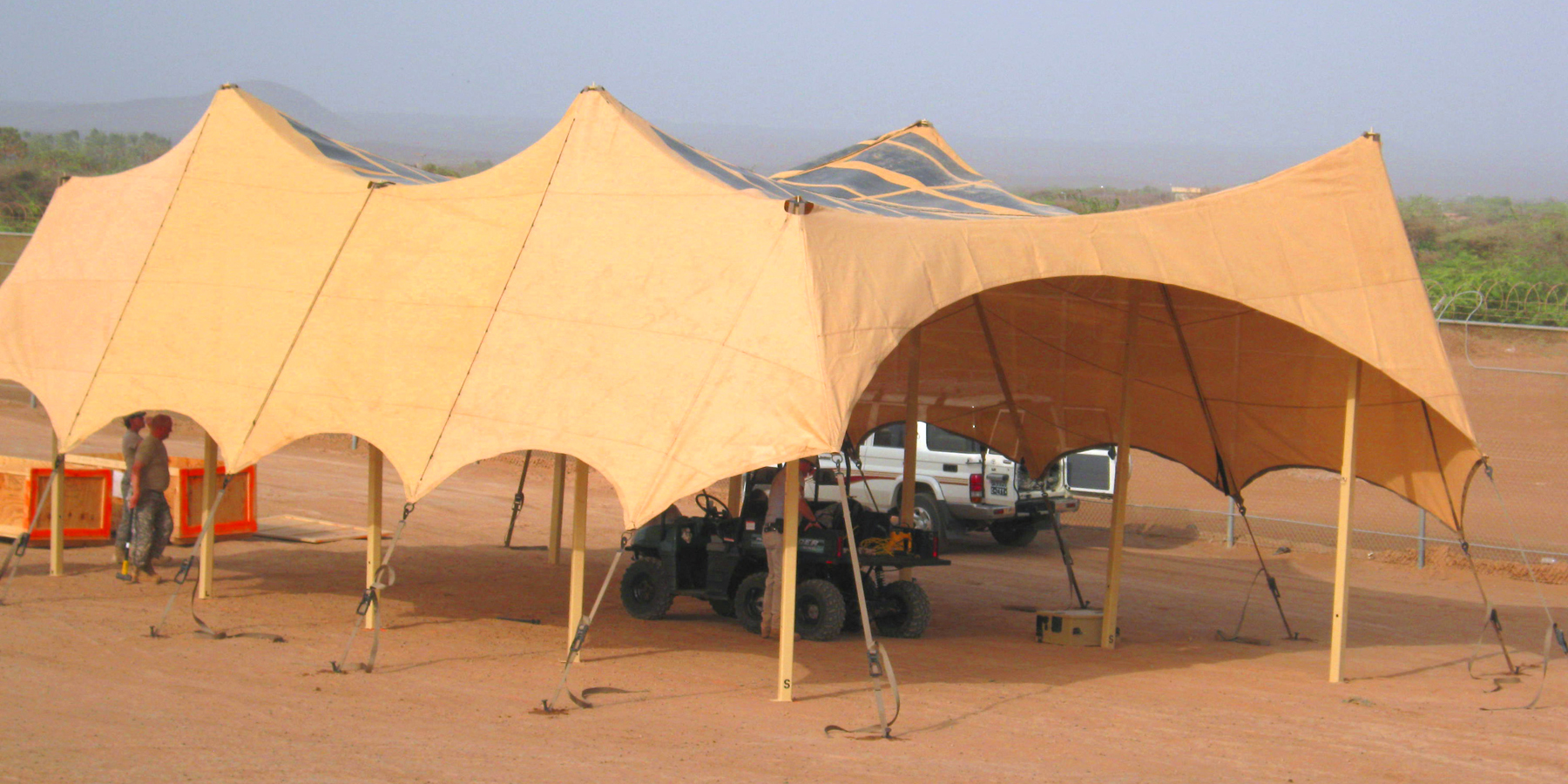 Flexible solar panels have greater utility than their rigid   counterparts,   and can be used in a wider variety of scenarios, such as on tents.   Wikimedia Commons  (public domain)