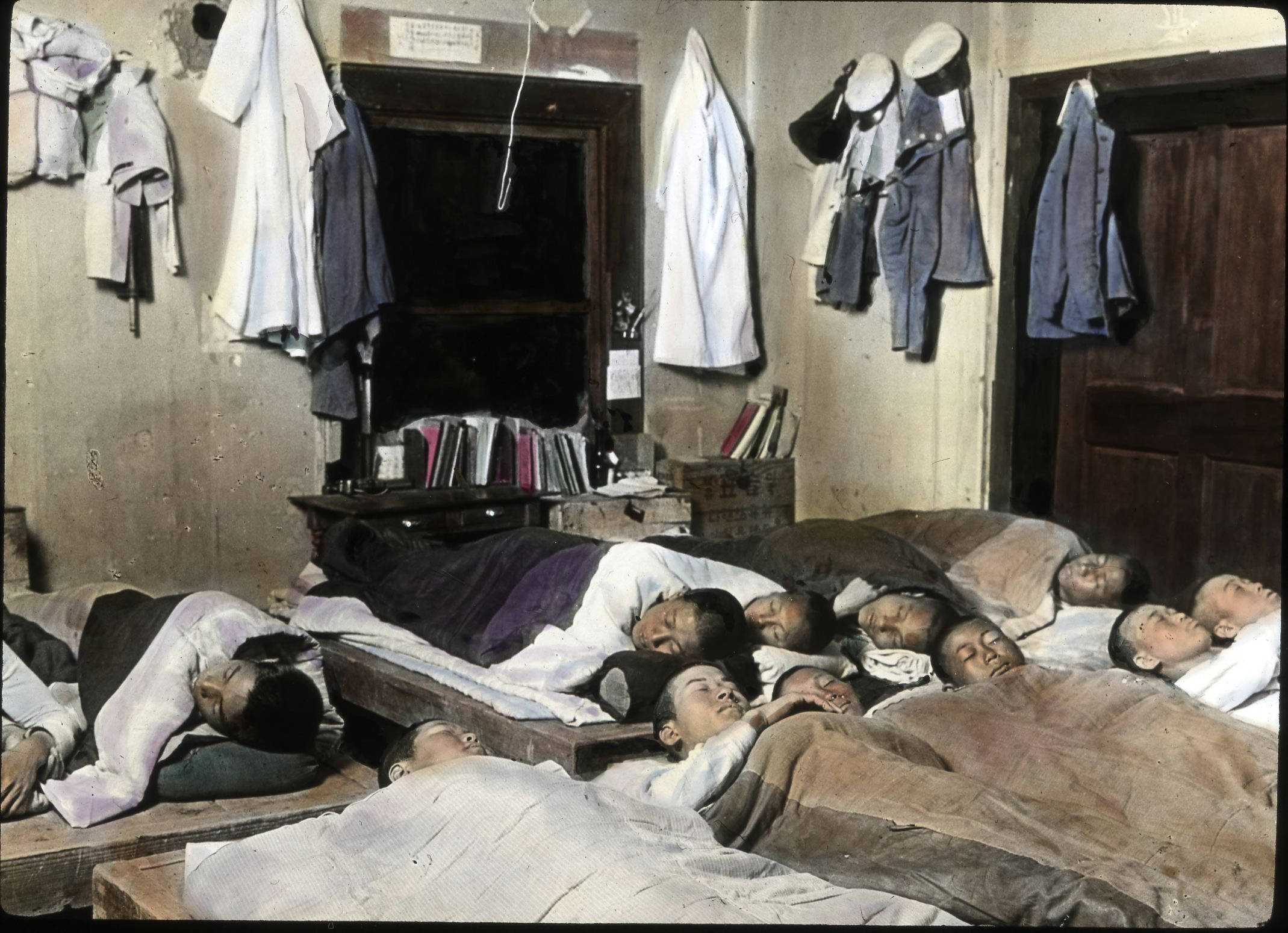 A crowded household can mean too many people sleeping in one bedroom or bed, which disrupts sleep and our need for privacy.   Methodist Episcopal Church/  Wikimedia Commons (public domain)