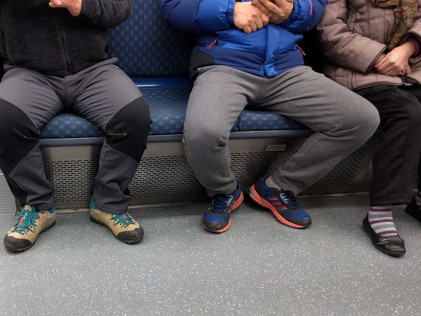 Manspreading may have a basis in our perceived personal space.   FriedC/Wikimedia Commons  (CC BY-SA 4.0)
