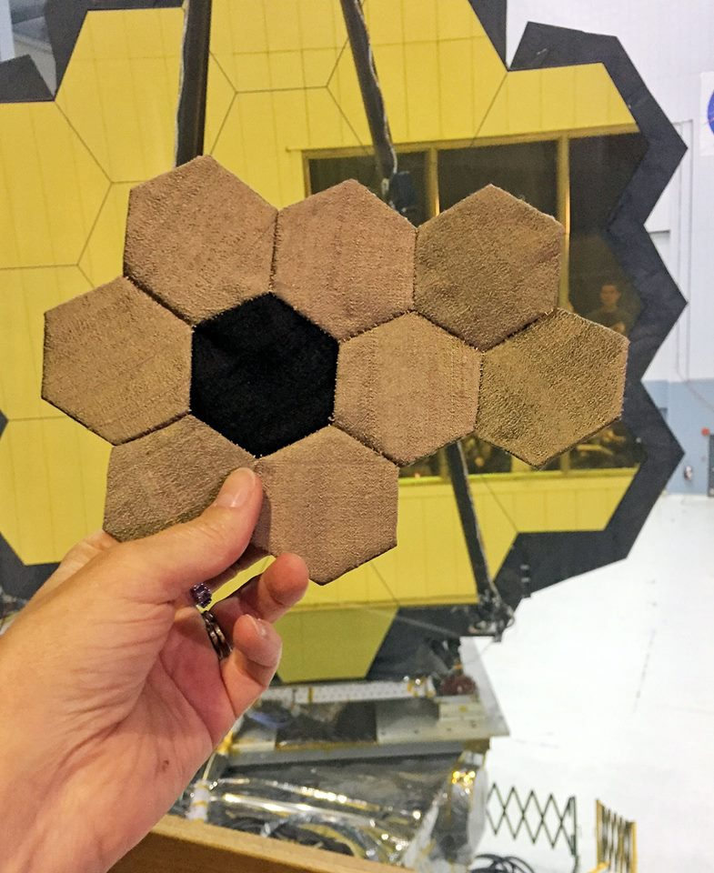The pieces Sue Reno's fabric art which became part of her final project, inspired by the James Webb Space Telescope.  NASA  (CC BY-NC 2.0)