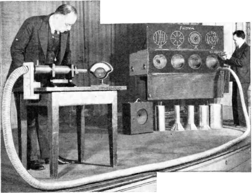 Engineers at Bell Telephone Laboratory demonstrate they could pass microwaves through an eight-metre-long metal waveguide in 1938  .   Wikimedia Commons  (public domain)