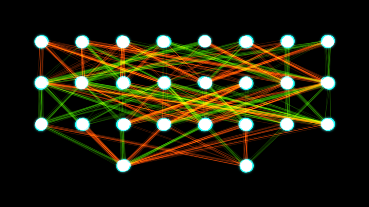 Artificial neural networks are inspired by the biological networks in our own brains, and can solve complex problems in a similar way.   Akritasa/Wikimedia Commons  (CC BY 4.0)
