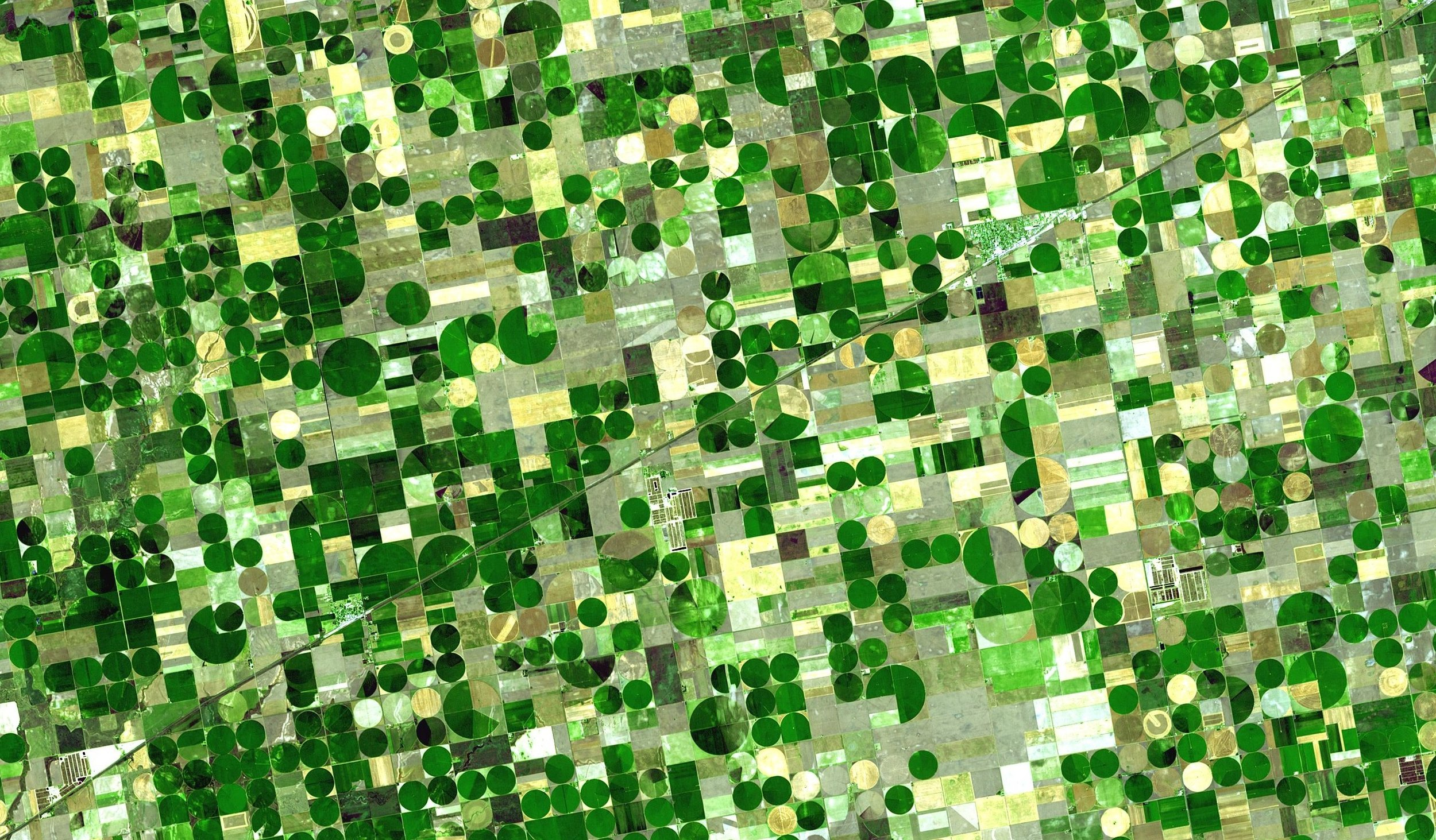 Satellite imagery can help us understand how the environment has changed over time.   NASA/Wikimedia Commons  (public domain)