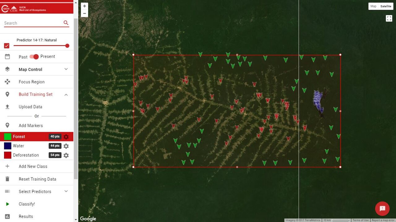 The REMAP program allows users to identify environmental change over time, using satellite imagery. © REMAP