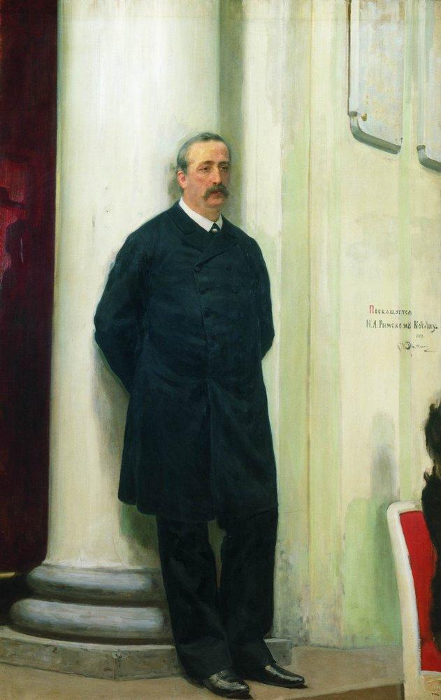 An oil painting portrait of Borodin painted by Ilya Repin circa 1888 .  Ilya Repin/Wikimedia Commons  (public domain)