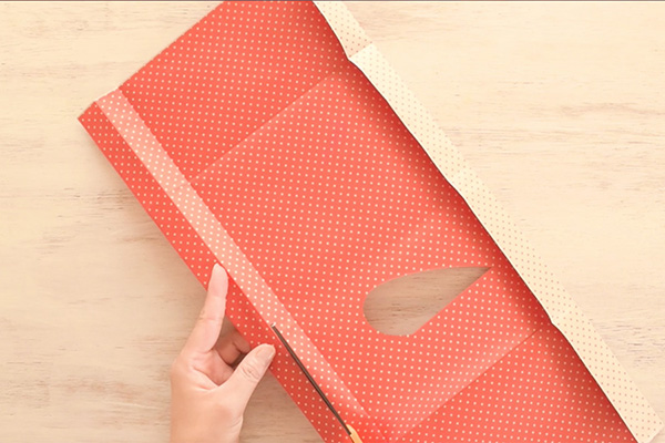 Step 8: Cut off a strip of paper to create a belt. You can also cut a strip from any other paper you like.