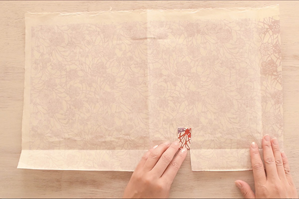 Step 5: Fold up the slits.