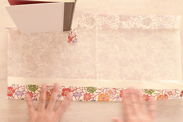 Step 8: Fold up the crease.