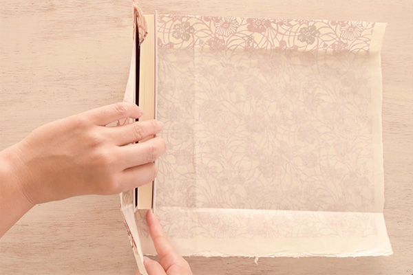 Step 10: Cut another slit for the thickness of the book.