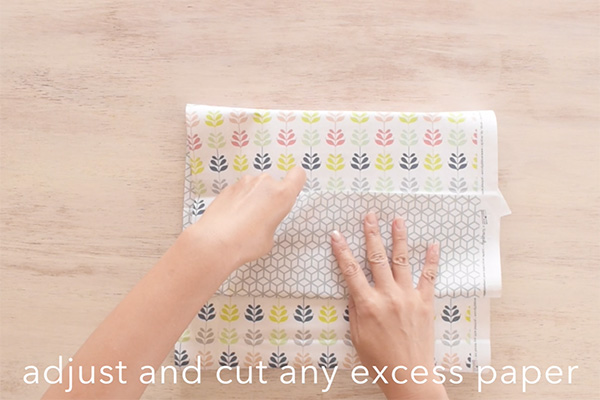 Step 5: Cut any excess paper.