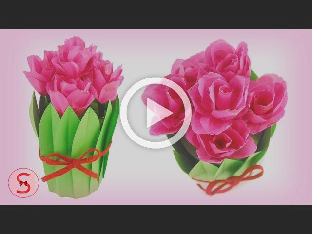 DIY Paper Tulip Bouquet