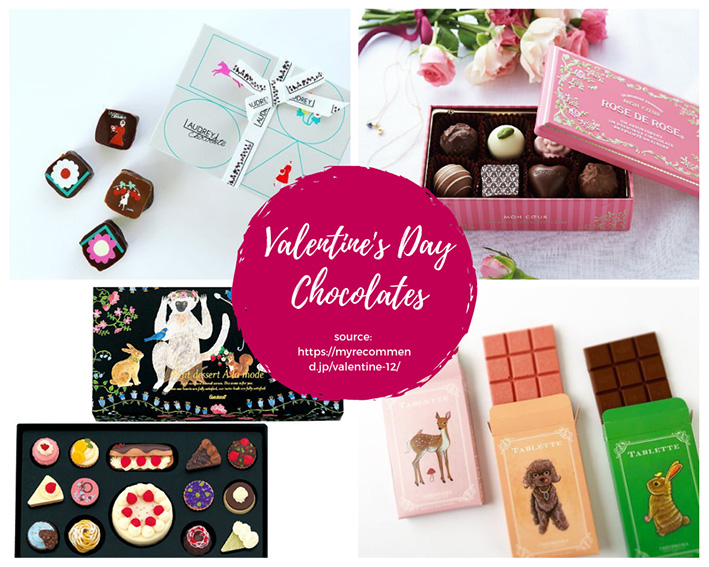 Samples of Valentine's Chocolates (Photos from MyRecommend! https://myrecommend.jp/valentine-12/)