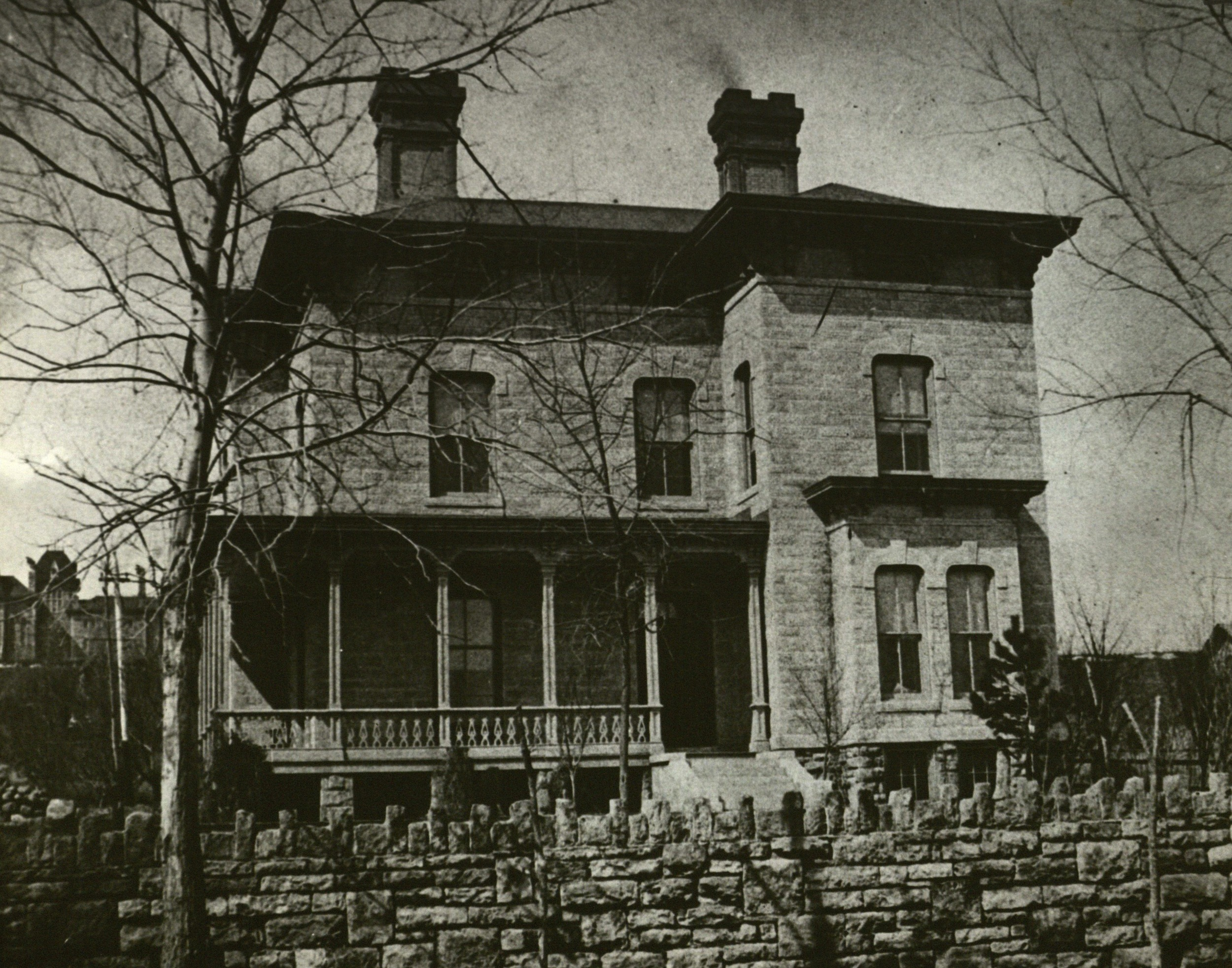 Usher Mansion in 1912, a few months before Alpha Nu moved in.