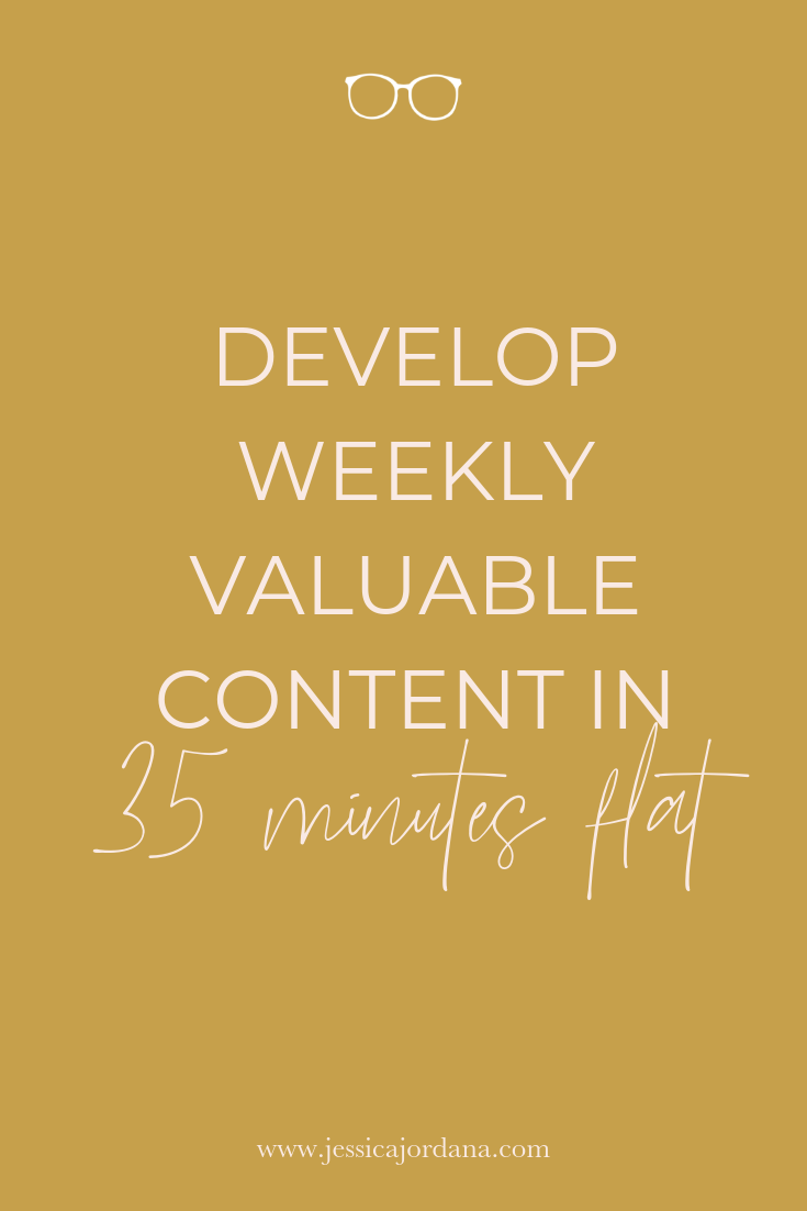 Develop Weekly Valuable Content in 35 Minutes Flat