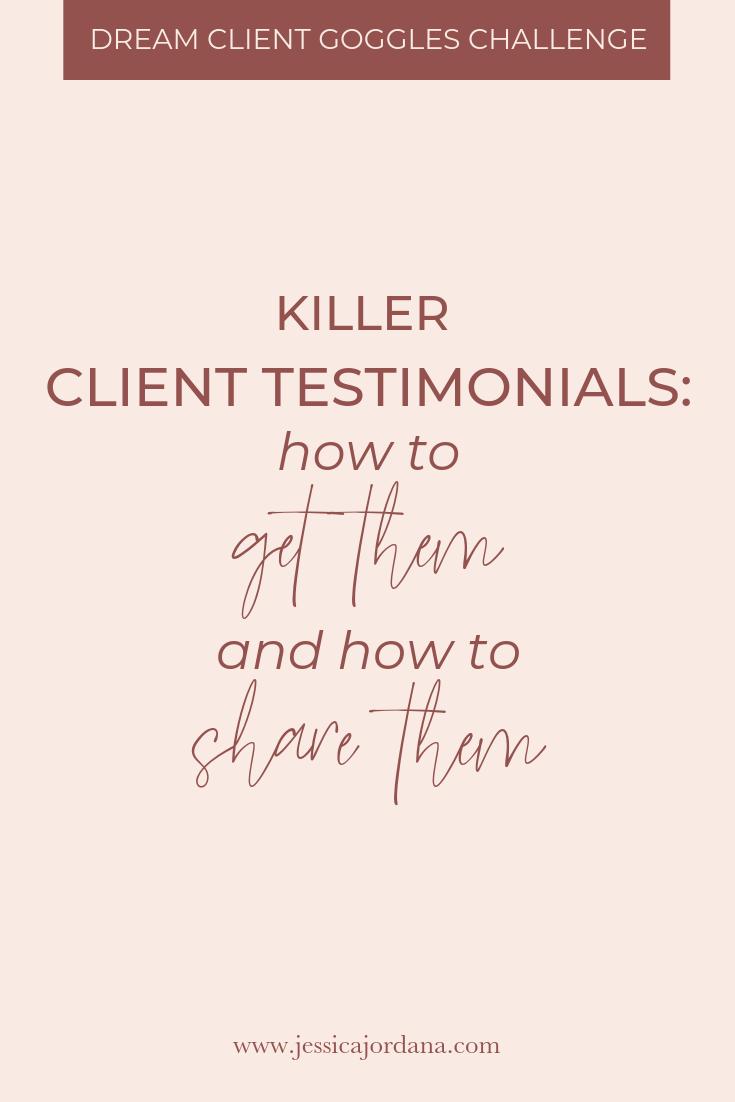 Jess, XO how to get killer client testimonials