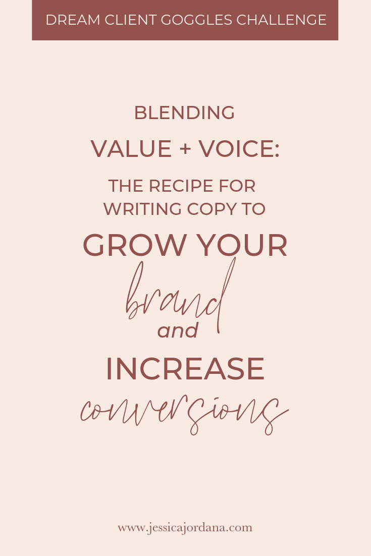 Jess, XO blending value and voice in your copy